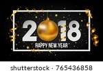 2018 happy new year background... | Shutterstock . vector #765436858