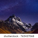 scenic image of night sky over... | Shutterstock . vector #765437068