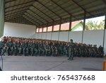 "Small photo of ""bela negara"" at batalyon 15 arhanudse Semarang. Anti air unit. over 100 college student were participate. october 2014"