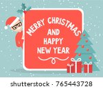 merry christmas and happy new... | Shutterstock .eps vector #765443728
