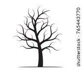 black winter naked tree. vector ... | Shutterstock .eps vector #765443770