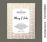 elegant wedding invitation... | Shutterstock .eps vector #765443884