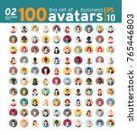 big set 02 of 100 awesome... | Shutterstock .eps vector #765446803