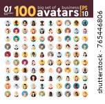 big set 01 of 100 awesome... | Shutterstock .eps vector #765446806