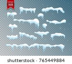 snow  ice cap. snowfall with... | Shutterstock .eps vector #765449884