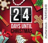 countdown to christmas flip... | Shutterstock . vector #765451648