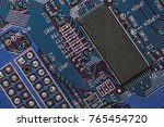 closeup of electronic circuit... | Shutterstock . vector #765454720