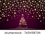 new year and christmas card... | Shutterstock .eps vector #765458734