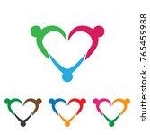 family adoption care logo | Shutterstock .eps vector #765459988