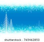 vector winter nature background. | Shutterstock .eps vector #765462853