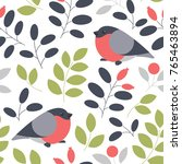 vector seamless floral pattern... | Shutterstock .eps vector #765463894