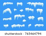 snow ice icicle set winter... | Shutterstock . vector #765464794