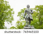 Kronshtadt, St. Petersburg, Russia, June 14, 2015. Monument to Peter the Great in the Park city Kronshtadt