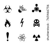 set of warning danger signs ... | Shutterstock .eps vector #765466756