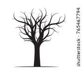black winter naked tree. vector ... | Shutterstock .eps vector #765467794