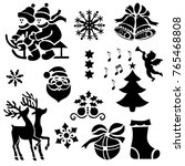 christmas devorative design... | Shutterstock .eps vector #765468808