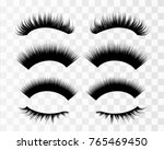 lashes isolated on transparent... | Shutterstock .eps vector #765469450