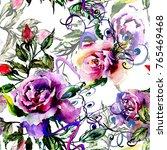 watercolor wild tropical exotic ... | Shutterstock . vector #765469468