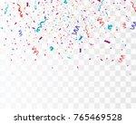 colorful bright confetti... | Shutterstock .eps vector #765469528