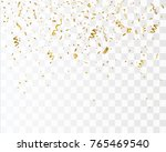 golden confetti isolated.... | Shutterstock .eps vector #765469540