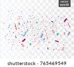 colorful bright confetti... | Shutterstock .eps vector #765469549