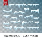 snow  ice cap. snowfall with... | Shutterstock .eps vector #765474538