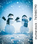 new year christmas snow concept ... | Shutterstock . vector #765480790