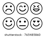 smileys emoticons icon positive ... | Shutterstock .eps vector #765485860