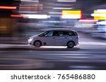 taxi traveling through the... | Shutterstock . vector #765486880