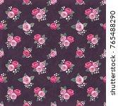 seamless floral vintage... | Shutterstock .eps vector #765488290