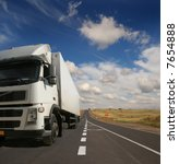 the lorry on a road | Shutterstock . vector #7654888