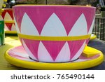 teacup carnival ride. close up... | Shutterstock . vector #765490144