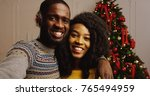 close up of young happy african ... | Shutterstock . vector #765494959
