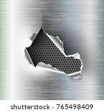 ragged hole torn in ripped... | Shutterstock .eps vector #765498409