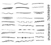 random hand drawn lines doodle...   Shutterstock .eps vector #765498499