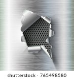 ragged hole torn in ripped... | Shutterstock .eps vector #765498580