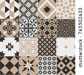 seamless pattern of tiles.... | Shutterstock .eps vector #765502633
