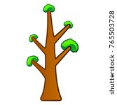 comic naked tree isolated on... | Shutterstock .eps vector #765503728