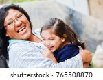 happy latin mom and little... | Shutterstock . vector #765508870
