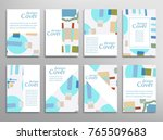 set of a4 cover  abstract... | Shutterstock .eps vector #765509683