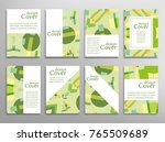 set of a4 cover  abstract... | Shutterstock .eps vector #765509689