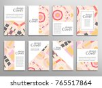 set of a4 cover  abstract... | Shutterstock .eps vector #765517864