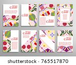set of a4 cover  abstract... | Shutterstock .eps vector #765517870