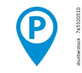 parking sign in map pointer ... | Shutterstock .eps vector #765520510