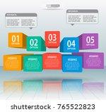 vector abstract 3d paper... | Shutterstock .eps vector #765522823