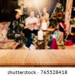 plank wood or table top with... | Shutterstock . vector #765528418