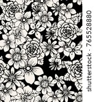 seamless floral pattern with... | Shutterstock .eps vector #765528880
