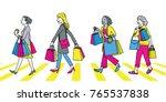 full length character of women... | Shutterstock .eps vector #765537838