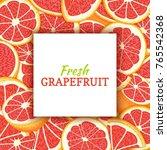 square white label on citrus...   Shutterstock .eps vector #765542368