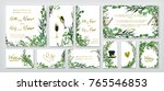 wedding invitation frame set ... | Shutterstock .eps vector #765546853